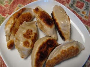 Pan-fired chinese dumplings